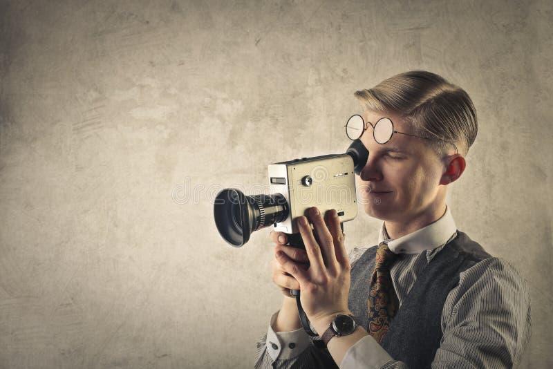 Mannschmierfilmbildung lizenzfreies stockbild
