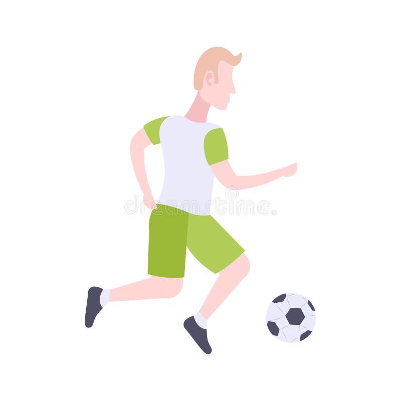 Fussball Fussball Ball Mann Zeichentrickfilm Figur Vektor