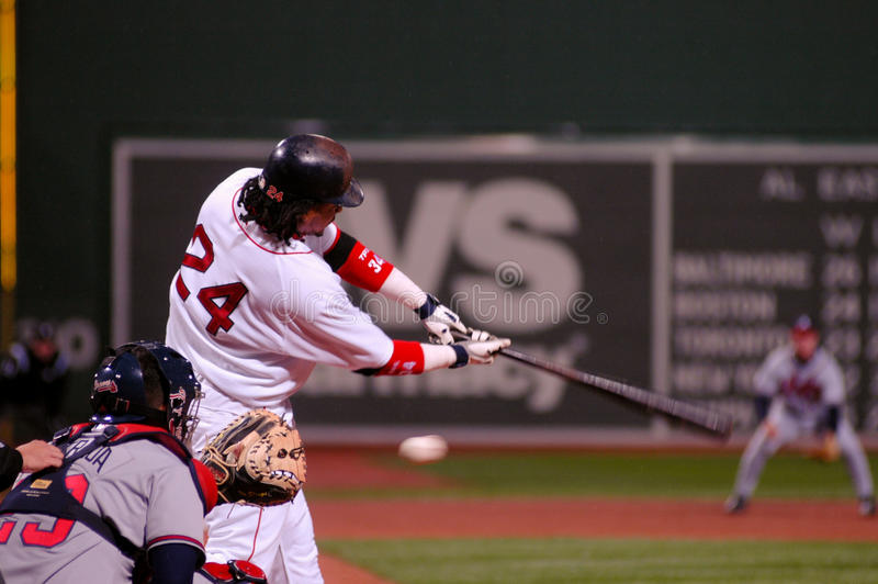Manny Ramirez Boston Red Sox royaltyfria bilder