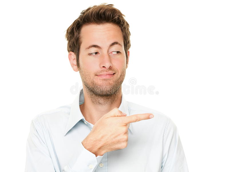 Mannzeigen lizenzfreies stockbild