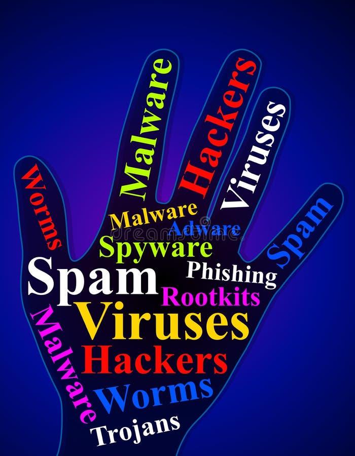 Mano 2 de la seguridad de la red de ordenadores libre illustration