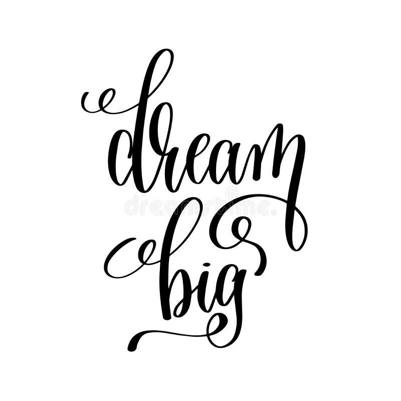Mano blanco y negro grande ideal escrita poniendo letras a cita positiva libre illustration