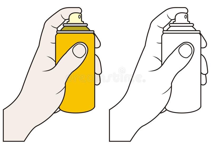 Mano con el aerosol libre illustration