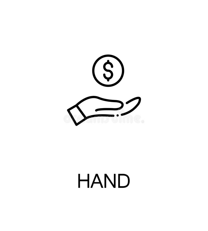 Mano con el icono del dinero ilustración del vector