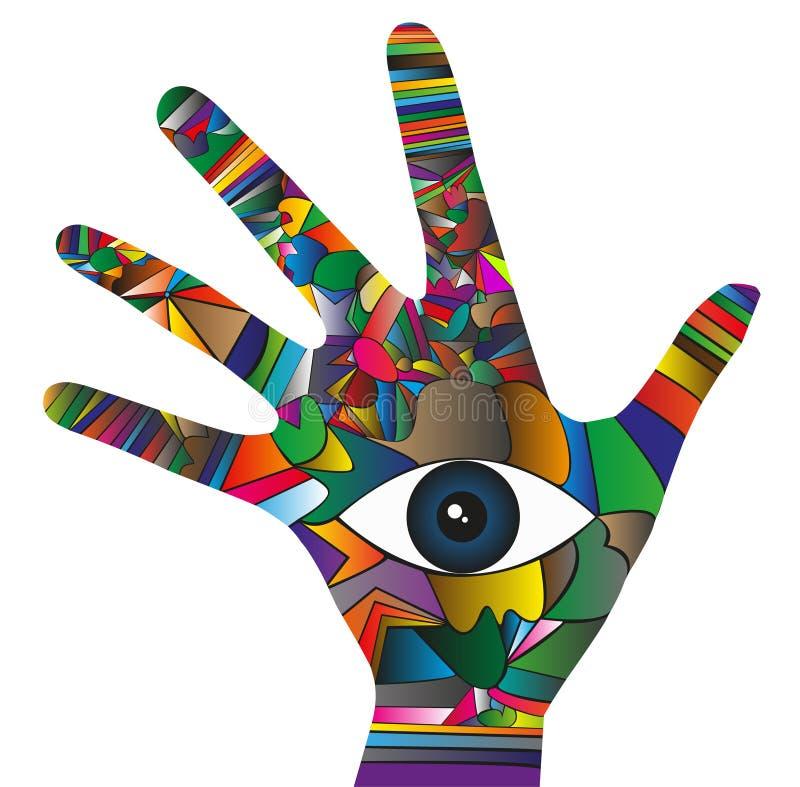 mano con el ojo libre illustration
