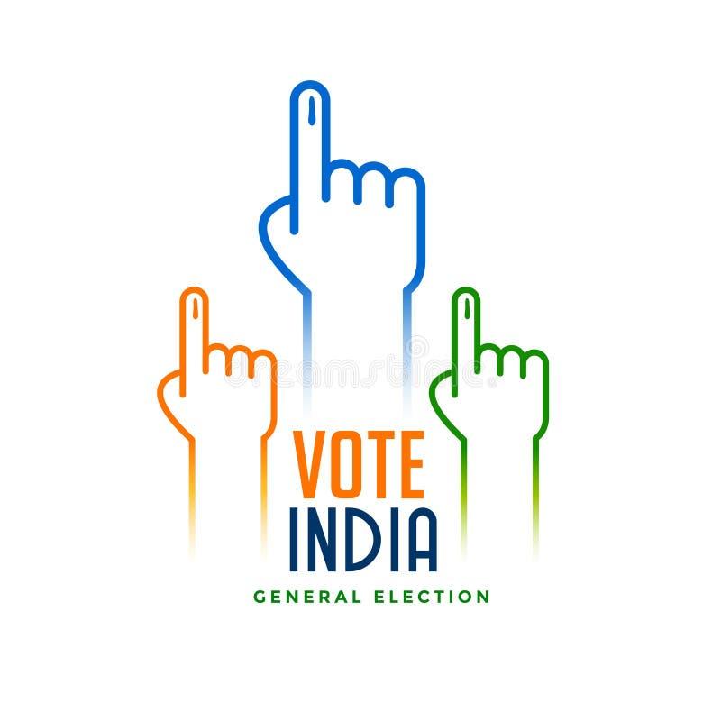 Mano con la muestra de votación para la elección libre illustration