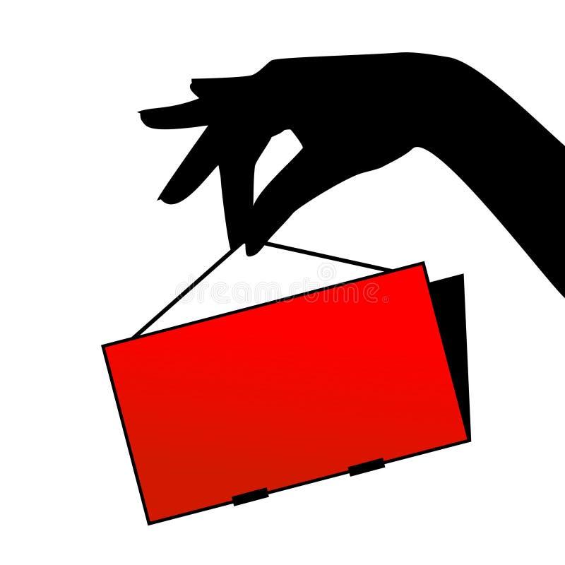 Mano con la tarjeta ilustración del vector