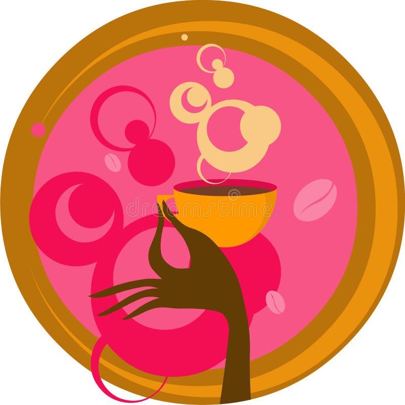 Mano con la tazza di caffè illustrazione vettoriale