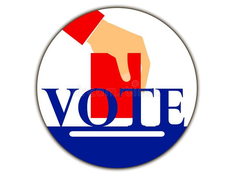 Mano con la votación de votación Voto Vector ilustración del vector