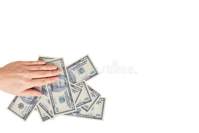 Mano con los d?lares americanos, el concepto de sobornos y la corrupci?n imagenes de archivo