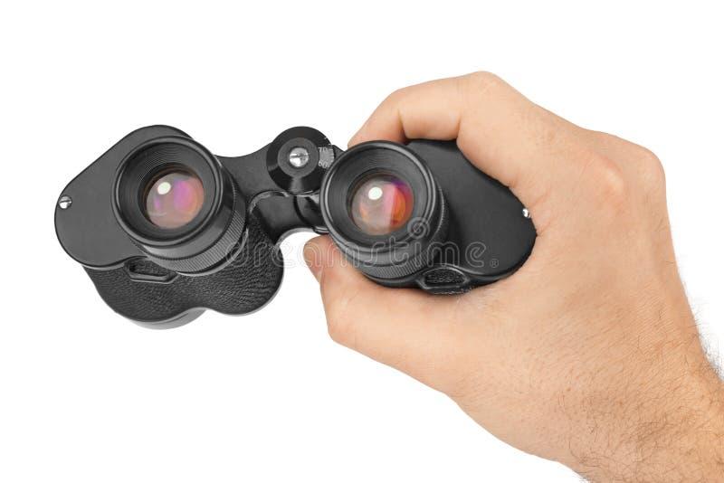 Mano con los prismáticos imágenes de archivo libres de regalías