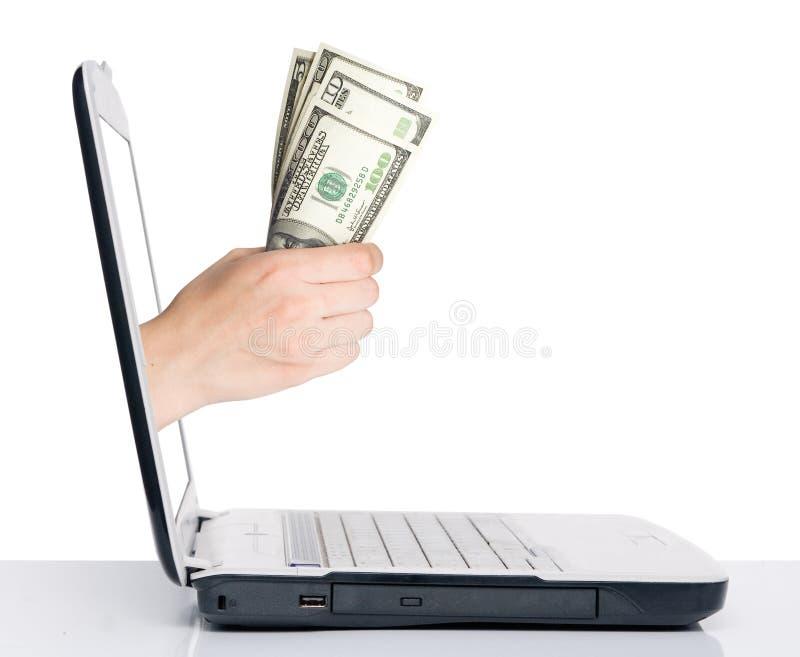 Mano con soldi immagini stock
