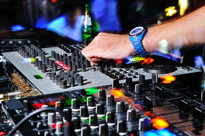 Mano de DJ foto de archivo