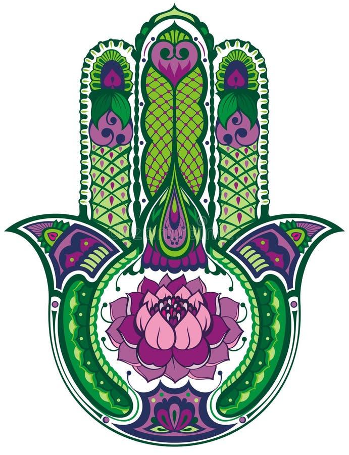 Mano de Hamsa stock de ilustración
