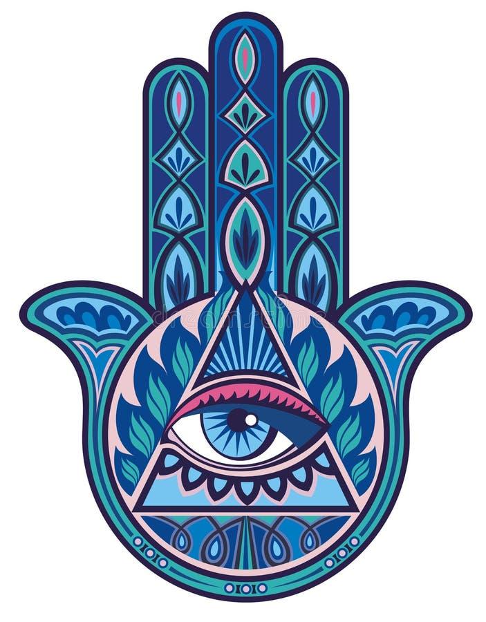 Mano de Hamsa ilustración del vector