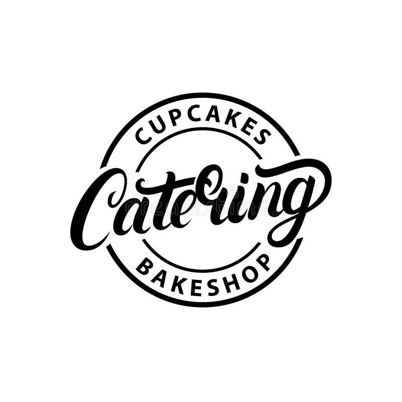 Mano de la compañía del abastecimiento escrita poniendo letras al logotipo, etiqueta, emblema libre illustration