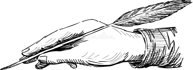 Mano de la escritura libre illustration