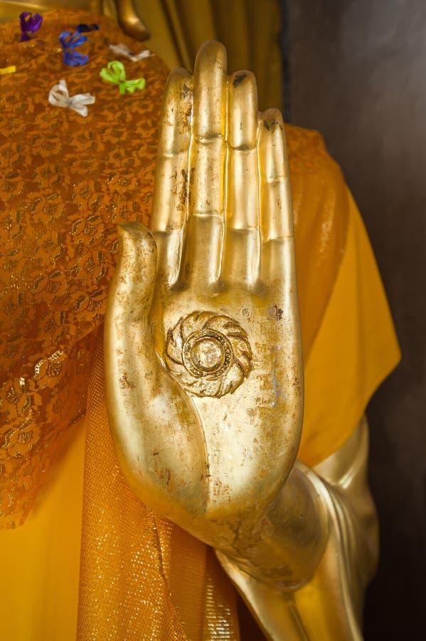 Mano de la estatua de Buddha fotos de archivo libres de regalías