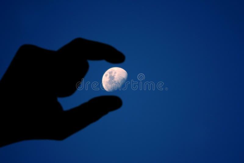 Mano de la luna foto de archivo