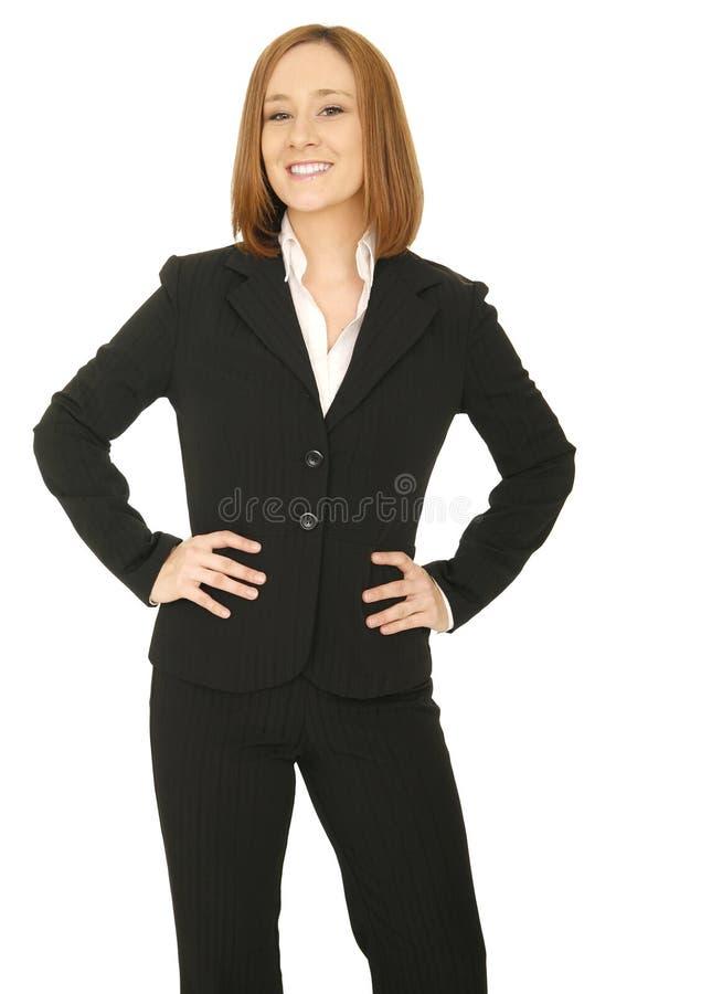 Mano de la mujer de negocios en cadera foto de archivo