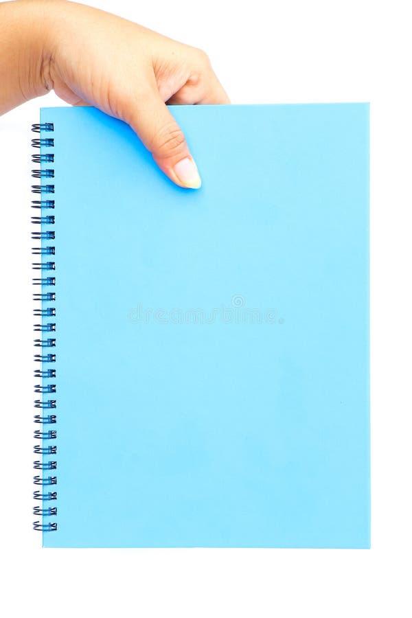 Download Mano De La Mujer Que Sostiene El Papel En Blanco Azul Imagen de archivo - Imagen de persona, blank: 64213081