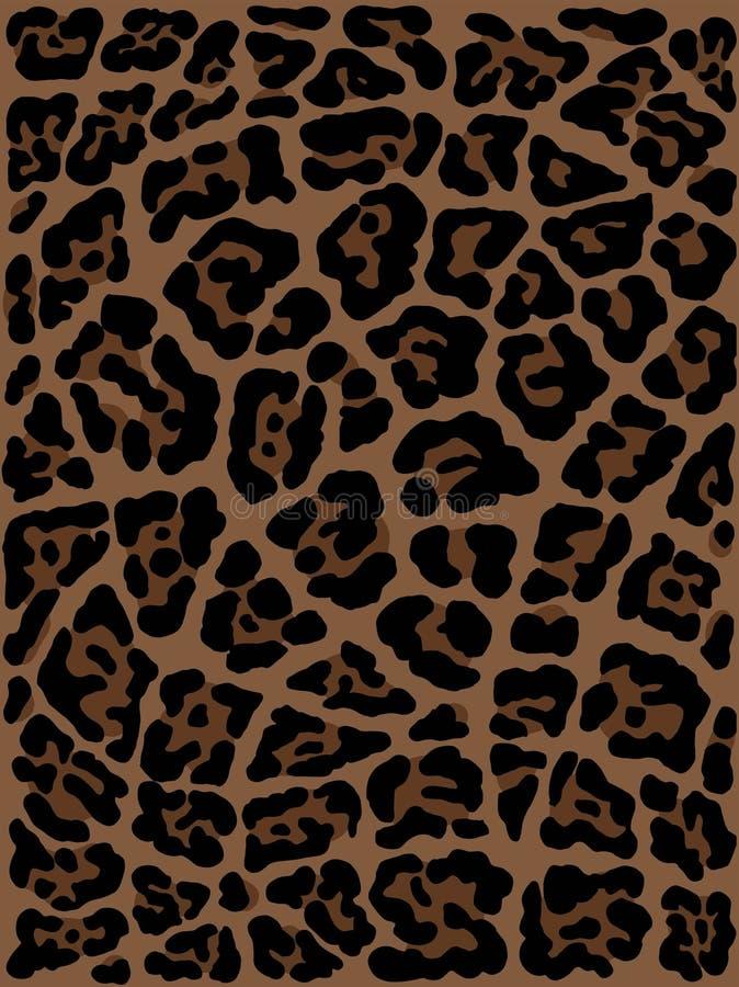 Mano de la piel del leopardo dibujada dibujo del estampado de animales Modelo incons?til libre illustration