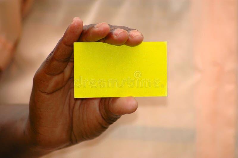 Mano de la tarjeta de visita imágenes de archivo libres de regalías