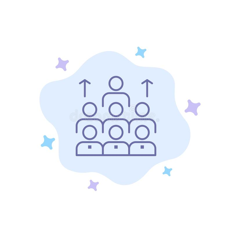 Mano de obra, negocio, ser humano, dirección, gestión, organización, recursos, icono azul del trabajo en equipo en fondo abstract libre illustration