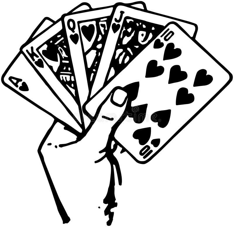 Mano de tarjetas libre illustration