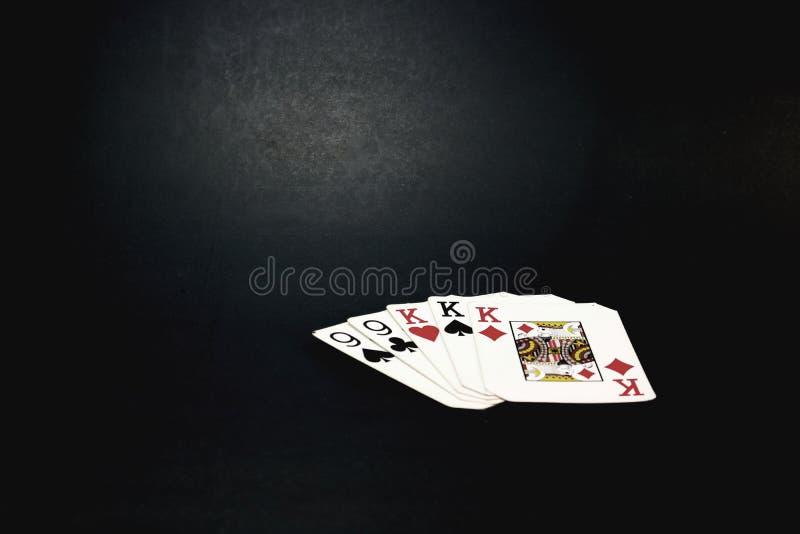 Mano de tarjetas foto de archivo libre de regalías