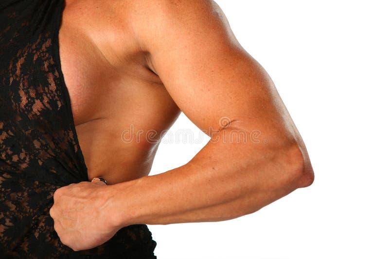 Mano del bodybuilder della donna immagine stock