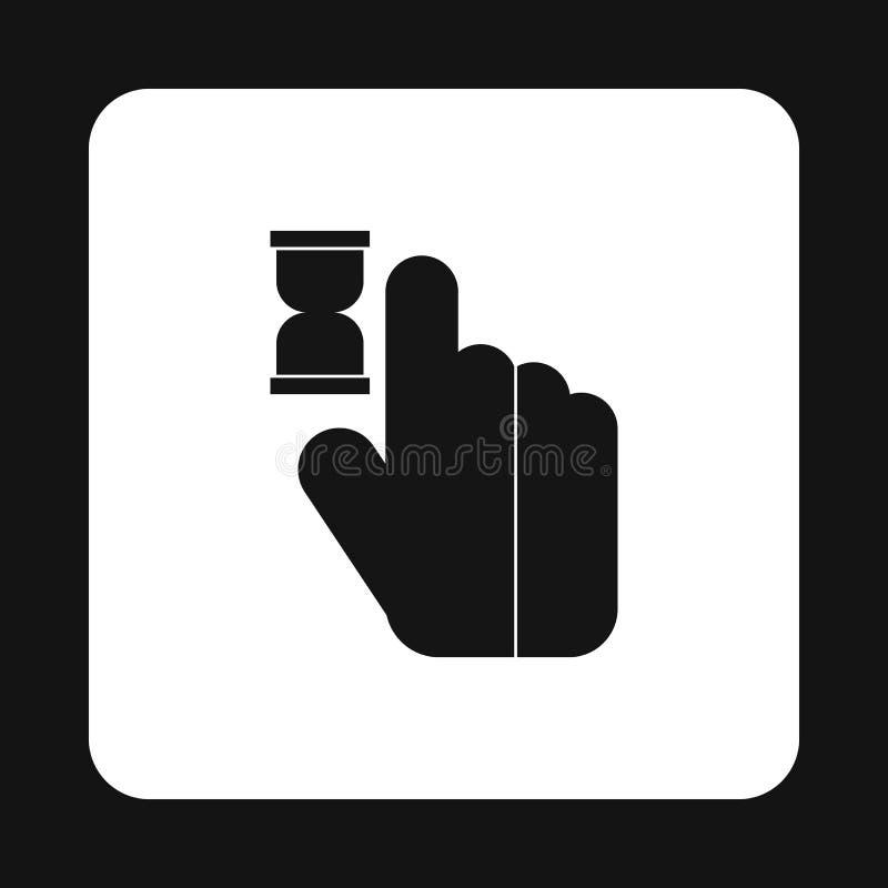 Mano del cursor en el icono de la anticipación, estilo simple ilustración del vector