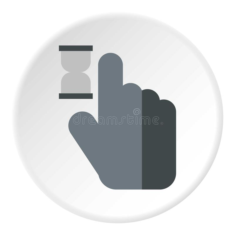 Mano del cursore nell'icona di anticipazione, stile piano royalty illustrazione gratis