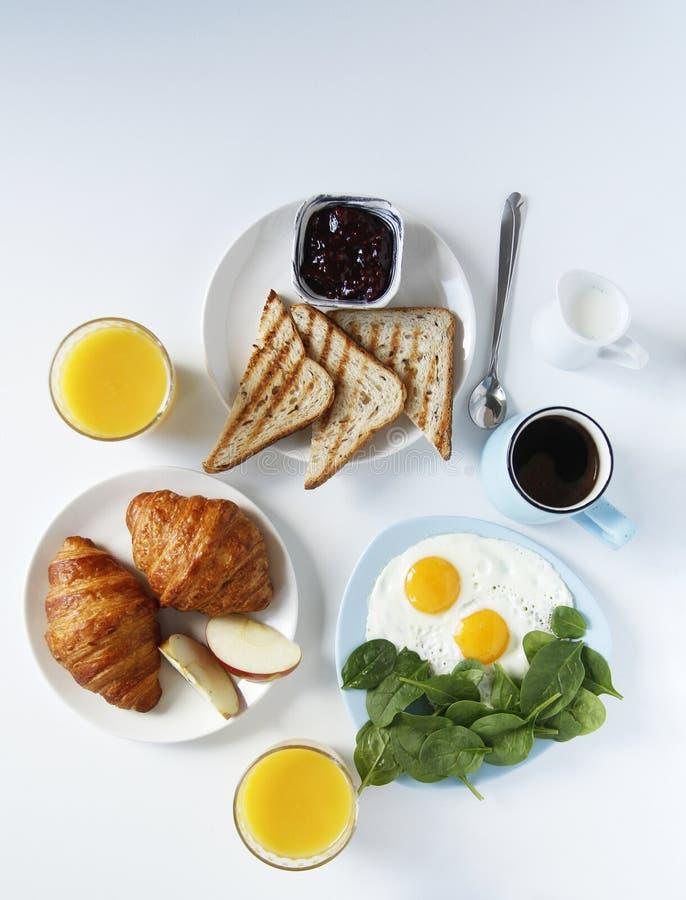 Mano del desayuno Vista lateral Fondo ligero Cierre para arriba imagenes de archivo