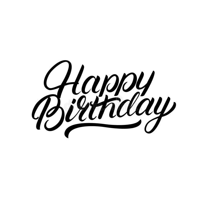 Mano del feliz cumpleaños escrita las letras libre illustration