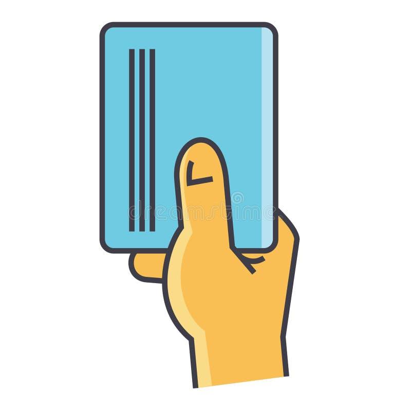 Mano del hombre de negocios que lleva a cabo concepto vacío de la tarjeta del papel en blanco o de la visita stock de ilustración