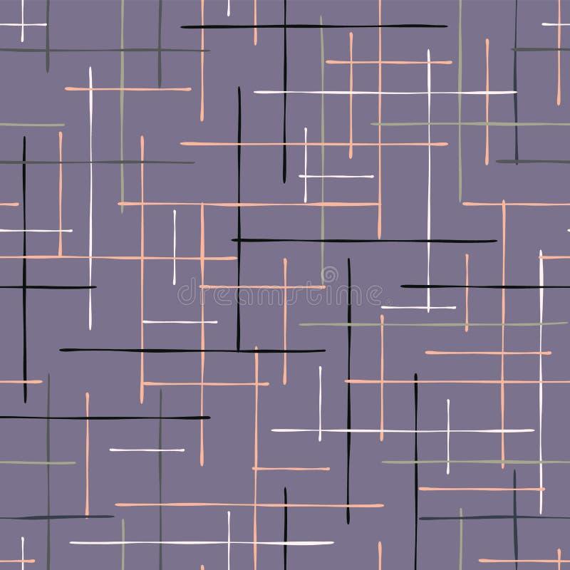 Mano del modelo de Criss Cross Lavender Maze Vector ilustración del vector