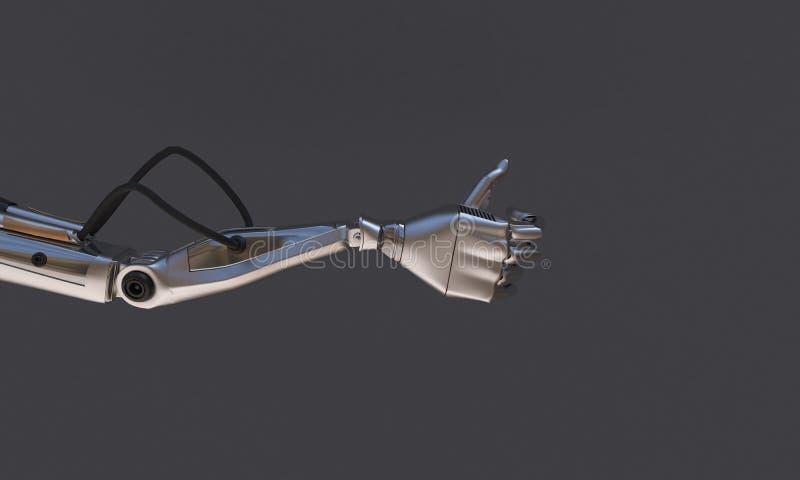 Mano del robot sui precedenti neri Tecnologia del robot per il futuro royalty illustrazione gratis