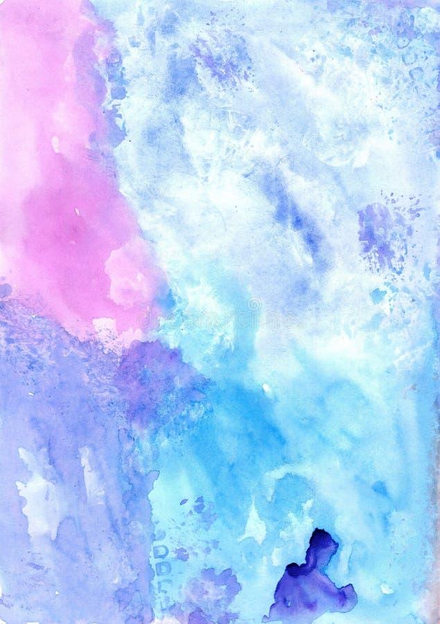 Mano del Watercolour que dibuja el fondo colorido Textura linda para stock de ilustración