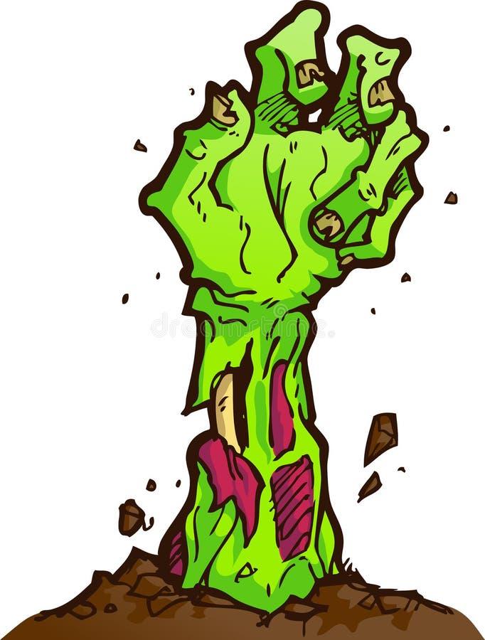 Mano del zombi stock de ilustración
