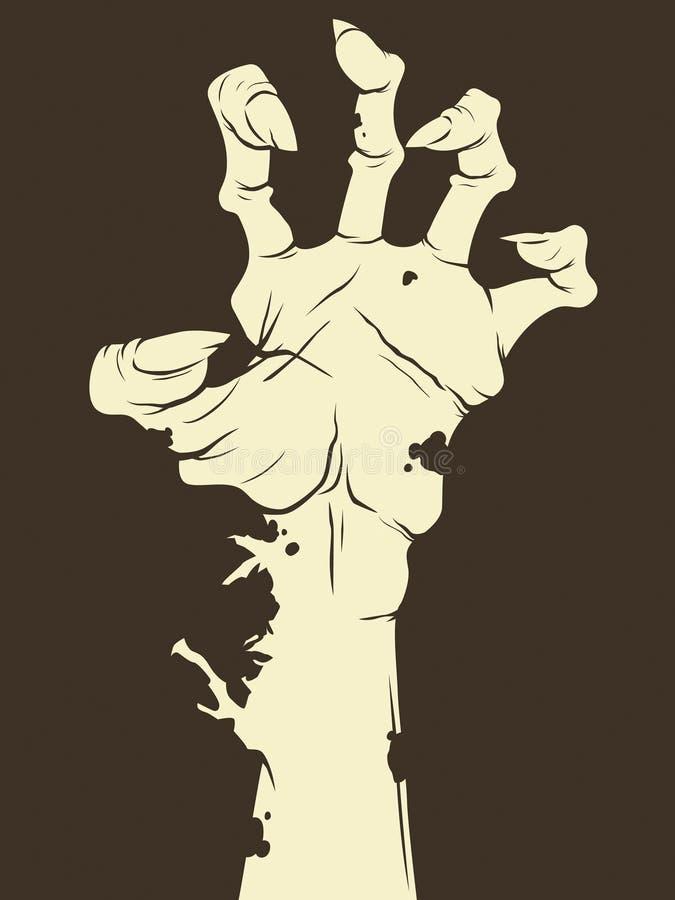 Mano del zombi ilustración del vector