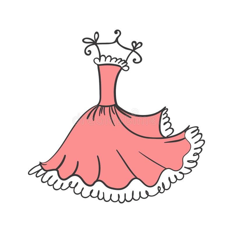 Mano dell'abito di palla che attinge un gancio illustrazione di stock