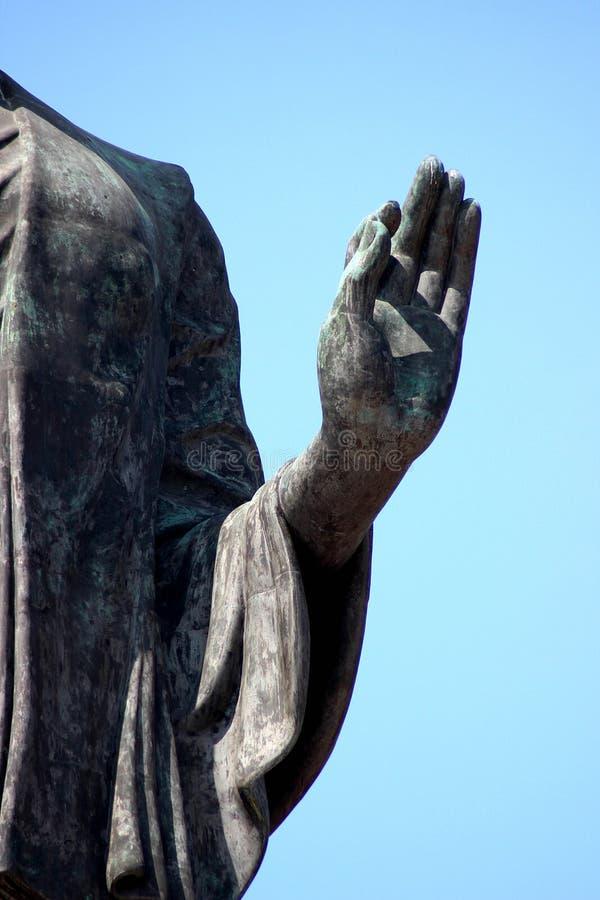 Mano dell'immagine del Buddha fotografie stock libere da diritti
