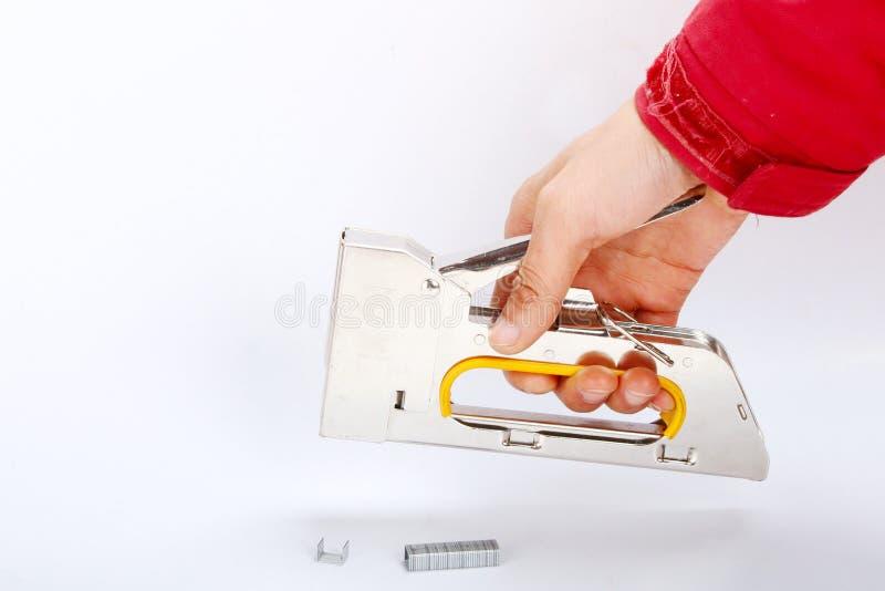 Mano della cucitrice meccanica fotografia stock