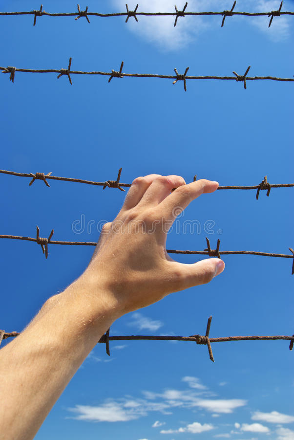 Mano della prigione immagine stock