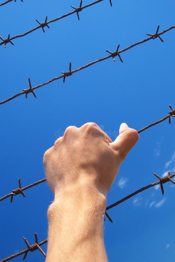 Mano della prigione fotografia stock