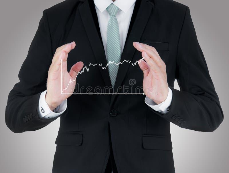 Download Mano Derecha De La Postura Del Hombre De Negocios Que Lleva A Cabo Finanzas Del Gráfico Aisladas Foto de archivo - Imagen de carta, negocios: 42439690