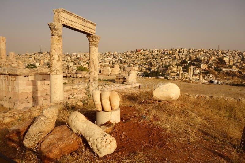 Mano di Ercole della cittadella di Amman fotografia stock libera da diritti