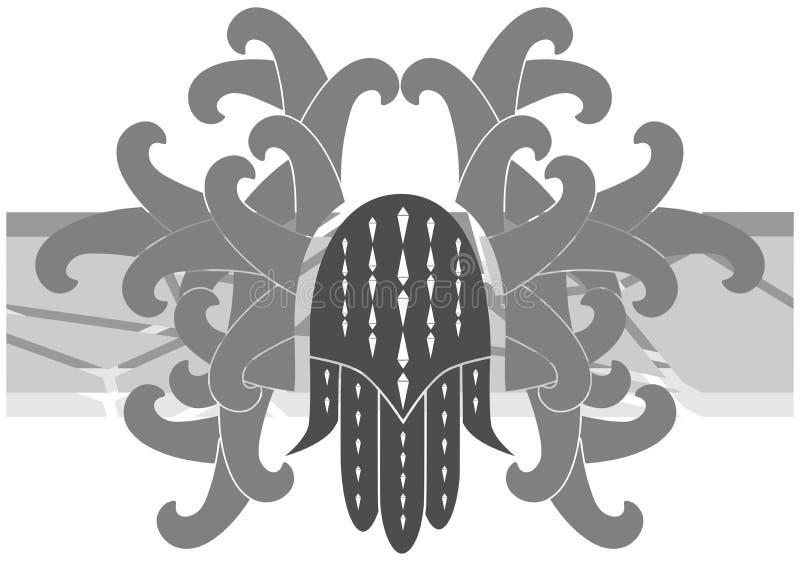 Mano di Fatima sulla decorazione isolata royalty illustrazione gratis