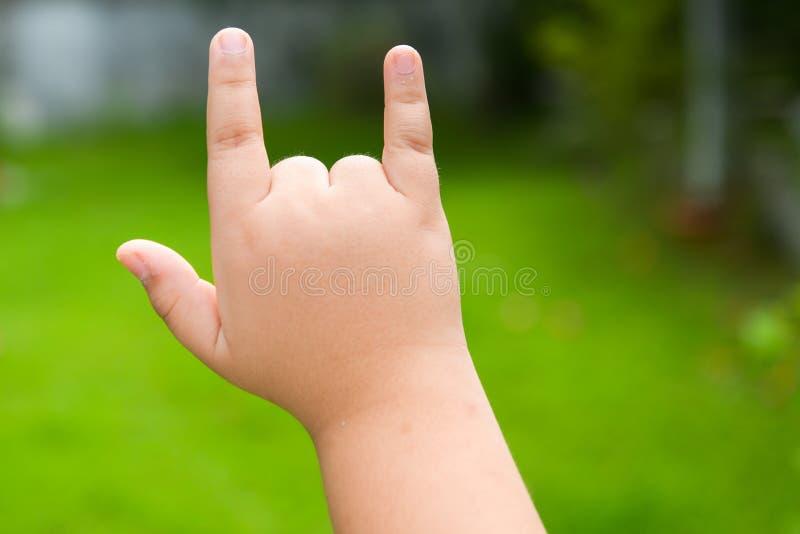 mano di simbolo di amore fotografia stock libera da diritti